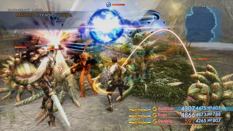 Zodiac Age Combat screen 2
