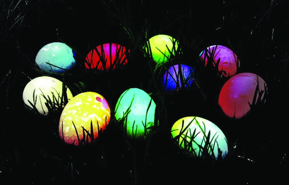 Glow in the Dark Egg Hunt at Wolf Pen Creek