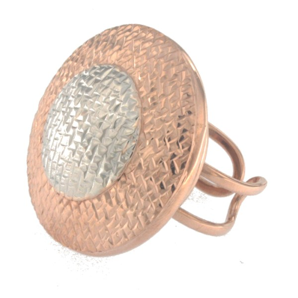 Ring in rose and white gold
