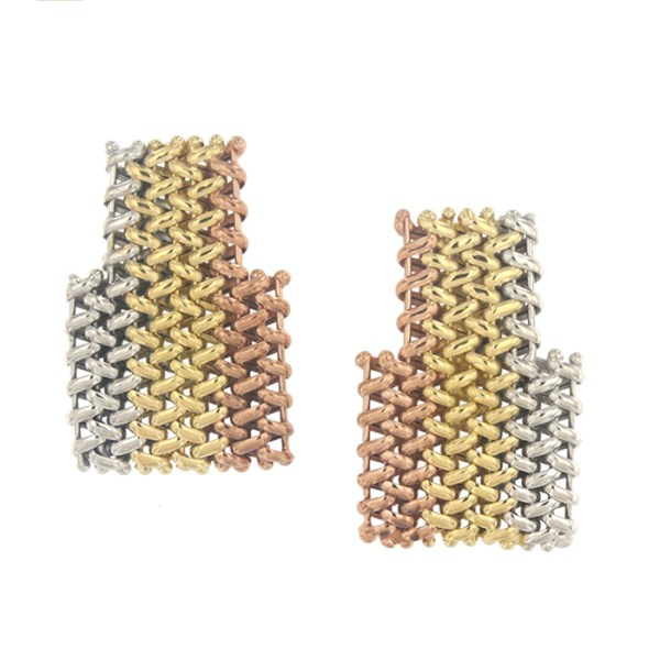 Earrings in 3 tones