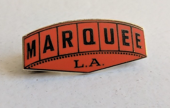 Red and Gold Marquee L.A. Enamel Pin