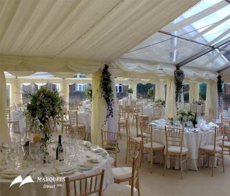Interior marquee with skylight roof