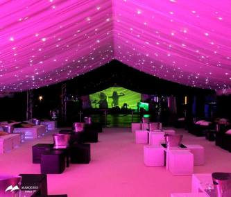 Image of VIP night club theme with pink lighting