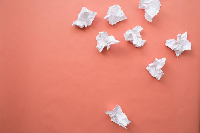 Crumpled paper Power BI