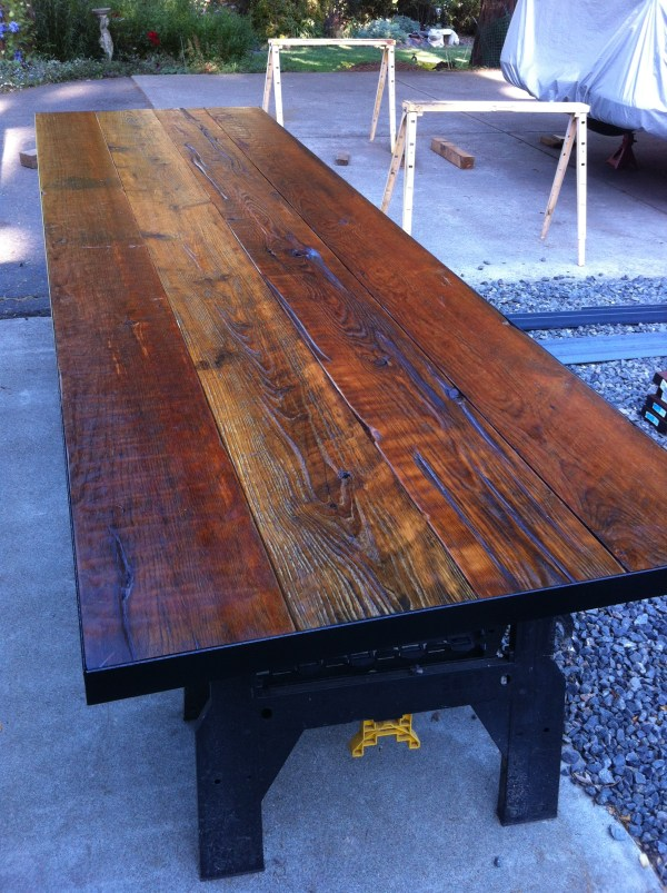 3 Foot 10 Reclaimed Rustic Wood Table Tops Marquee-lights
