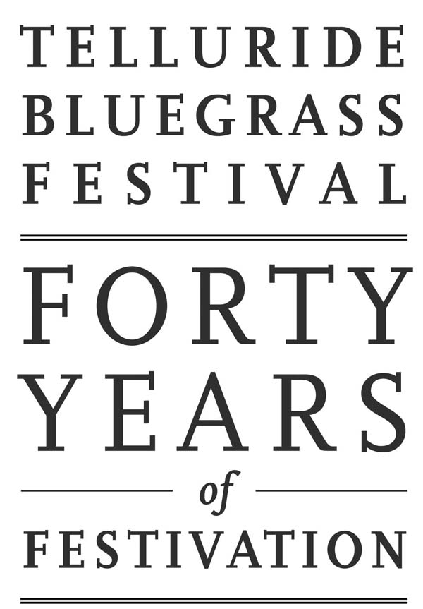 "Telluride Bluegrass Festival '""40 Years of Festivation"" Book'"