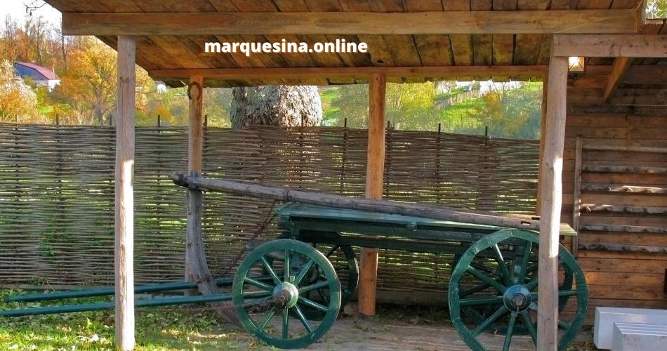 marquesina de madera