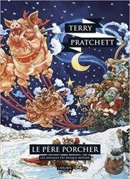 Couverture du livre de Terry Pratchett, Le père Procher aux éditions de L'atalante. C'est le 20ième tome des annales du disque-monde.
