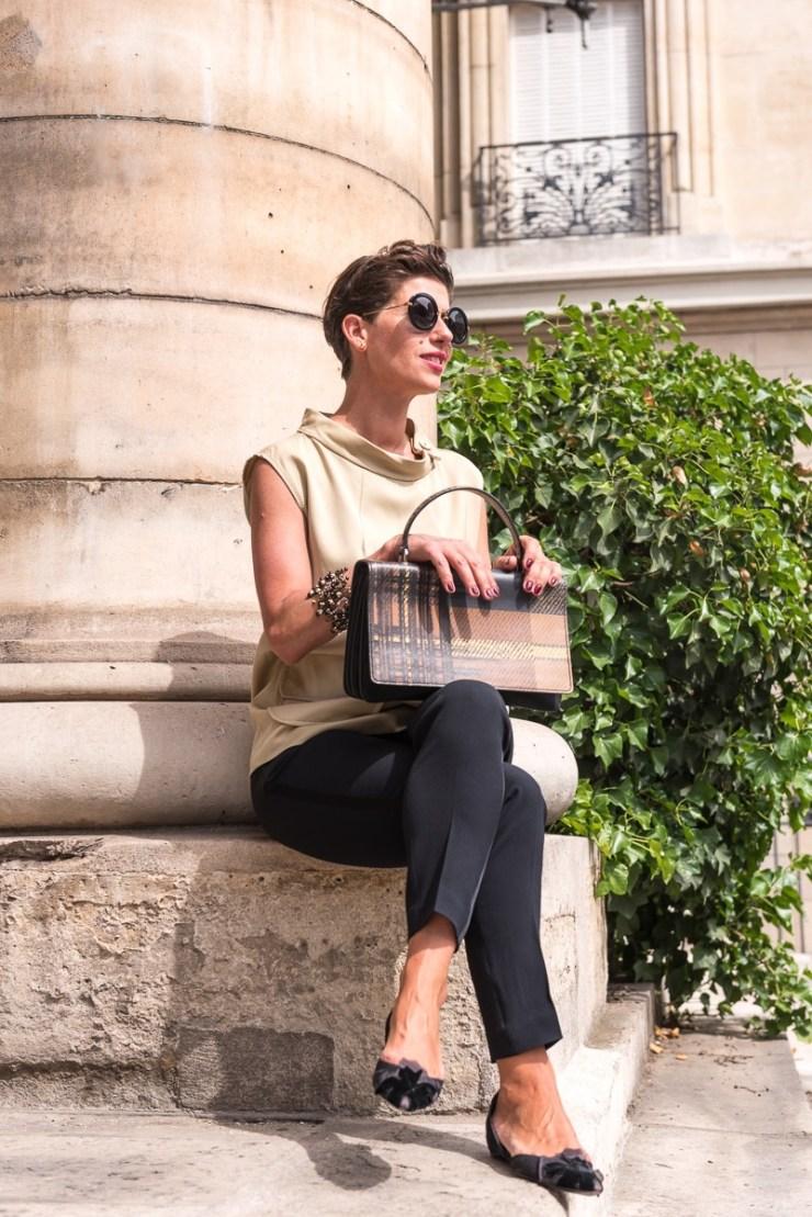 Marquis Paris - Fashion Paris - Juin 2017 - Top Beige & Pantalon Noir