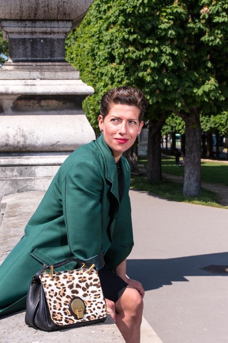 Marquis Paris - Manteau vert pont Alexandre III