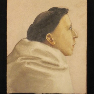 Study of a Monk (from Masaccio's Brancacci Chapel), buon fresco, 2000