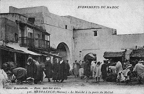 Le marché de la porte du Mellah