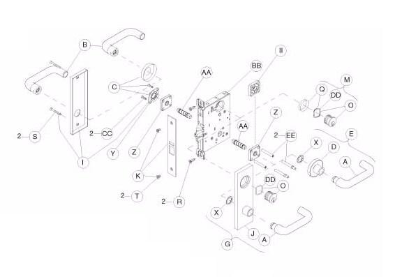electrified door hardwareSchlage L9080 Trim Parts