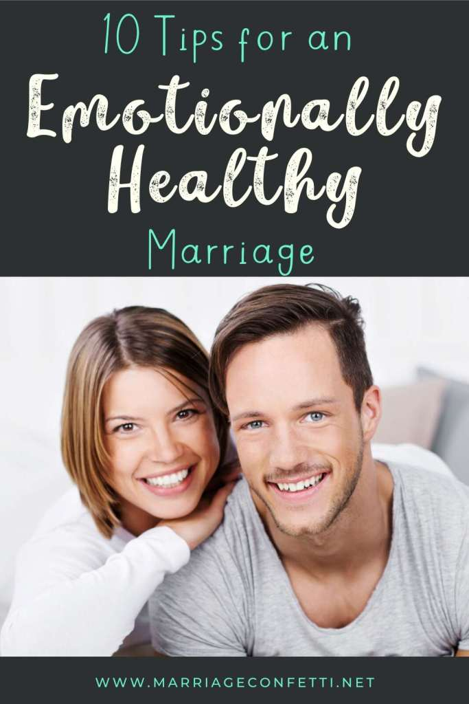 10 Tips for an emotionally healthy marriage pinterest image