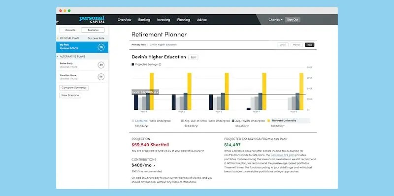 Personal Capital Education Planner