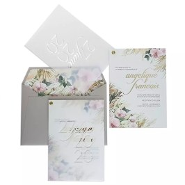 Pampas grass invitation by Fuchsia Fine Stationery