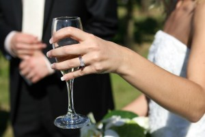 Congratulations on your engagement.Congratulations on your engagement. Champagne to celebrate.Champagne to celebrate.