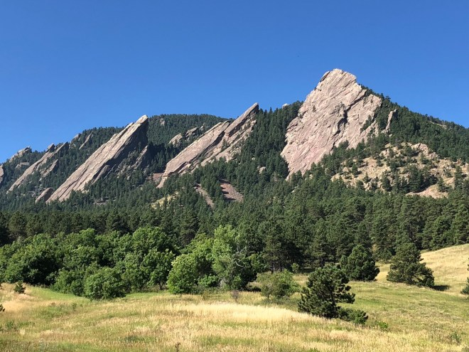 What a place to have training in couple therapy up near nature of the Flat Irons Chataqua Park, Colorado