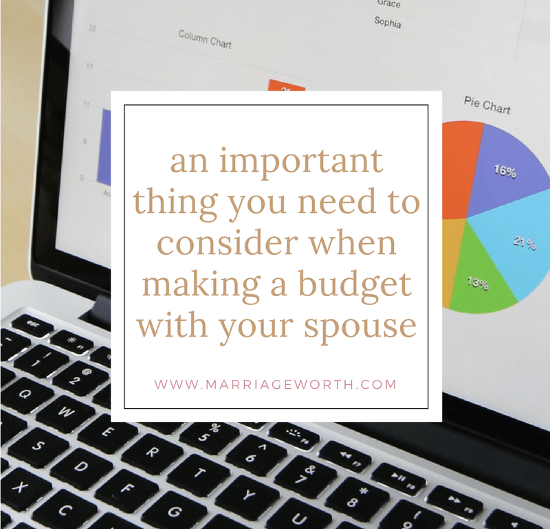 Making A Budget With Your Spouse Part 1 Marriage Worth