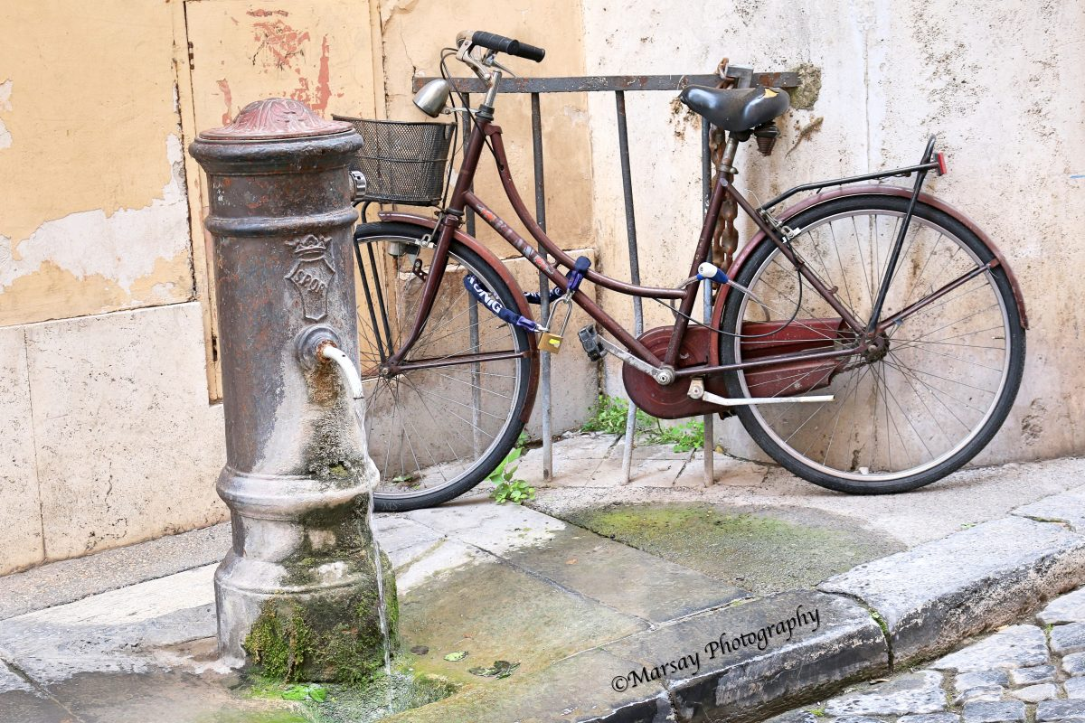 Somewhere on a tiny cobbled street, A Water spout and an old Bicycle...just screamed at me to click this pic, My Favourite.