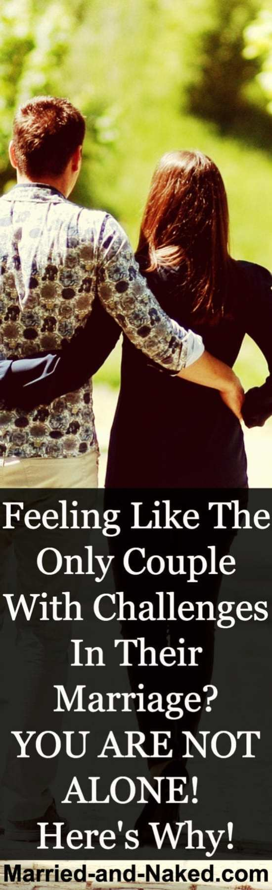 Feeling like the only couple with challenges in their marriage? You are not alone!