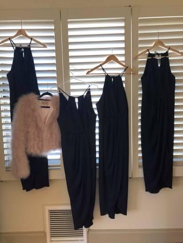 Pretty dresses.