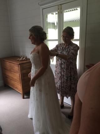 Bride's almost ready
