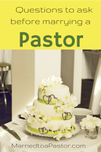 What to ask a pastor before you marry him!