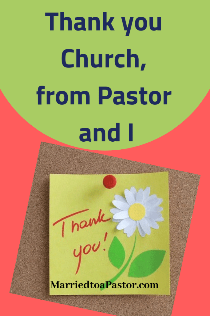 Ideas for pastors wives to thank congregation