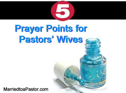 Prayer Points Pastors' Wives