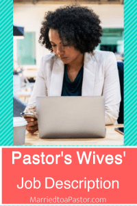 job description for pastors wives