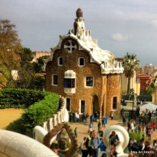 Parco Guell by Gaudi, Barcelona - guard houses