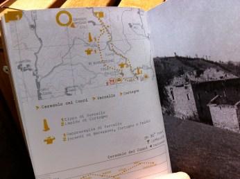 Partisan trail from Ceredolo dei Coppi