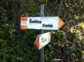 654 trail marker to Ceredolo