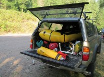 When everyone else had to roll up their kayaks, mine could just slide in the back of the Tacoma.