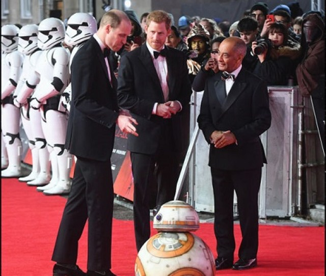 Prince Harry And Duke Of Cambridge Join Stormtroopers On Red Carpet Premiere Of Star Wars With Walt Disneys Ceo Bob Iger Source Abc Com
