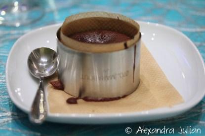 mi-cuit chocolat noir avec son coeur Nutella
