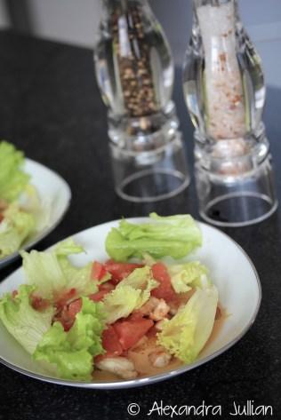 Poulet rôti, sauce miso & pamplemousse