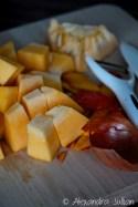 Risotto au potiron et et chips de pancetta