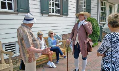 One of our private historic tours of Colonial Williamsburg