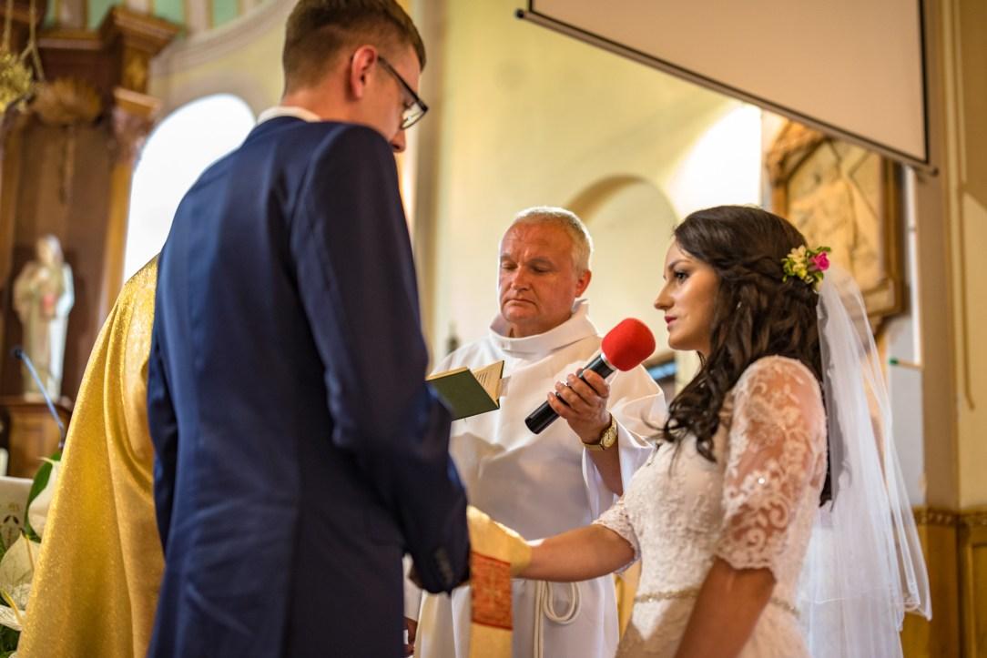 Ślub Oli i Mateusza - przysięga małżeńska