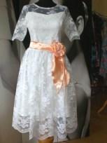 Brautkleid aus französischer Spitze