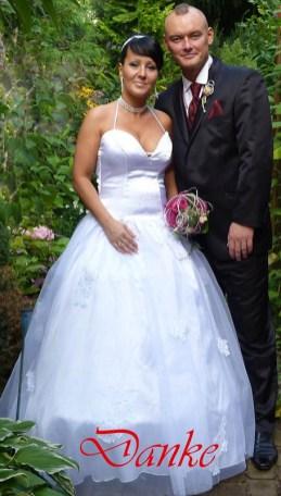 Brautkleid aus Satin, Tüll, mit Swarovski -Elementen