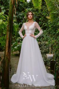Brautkleid mit Ärmel Rückenausschnitt