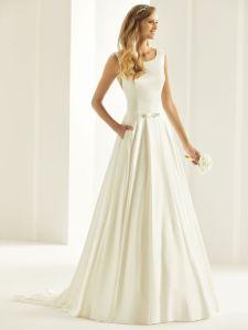 Brautkleid aus Satin schlicht
