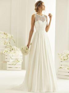 Brautkleid A-Linie aus Spitze