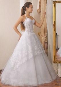 Brautkleid mit Träger und Spitze