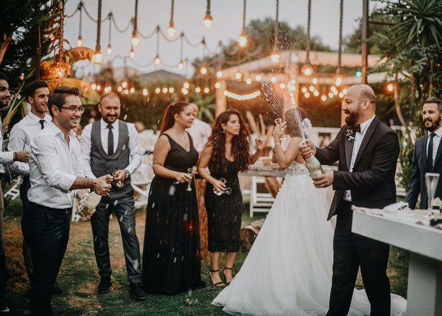 USA wedding event with guests