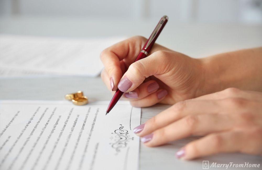 marriage certificate online