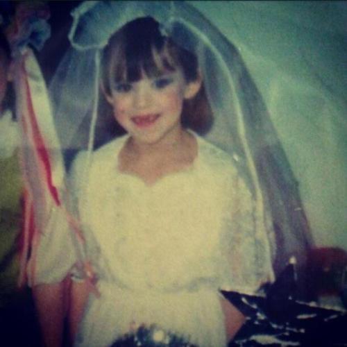 Me as a little girl bride